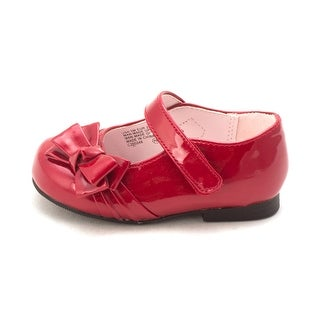 Nina Baby Maxie Buckle Ballet Flats, Red Patent, Size 5 M Baby Girl