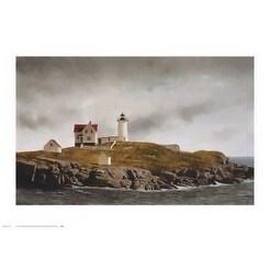 ''Nubble Light'' by Douglas Brega Coastal Art Print (23 x 33 in.)