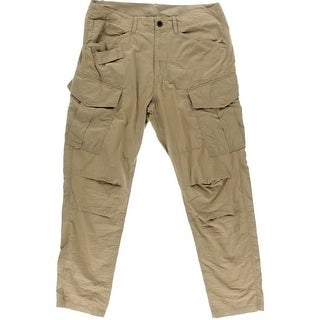 G Star Mens Solid Flat Front Cargo Pants - 33/32