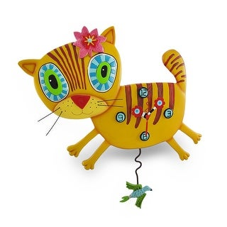 Allen Designs `Kimi Kitty` Pendulum Wall Clock