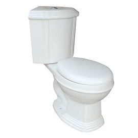 White Ceramic Round Space Saving Dual Flush Corner Toilet