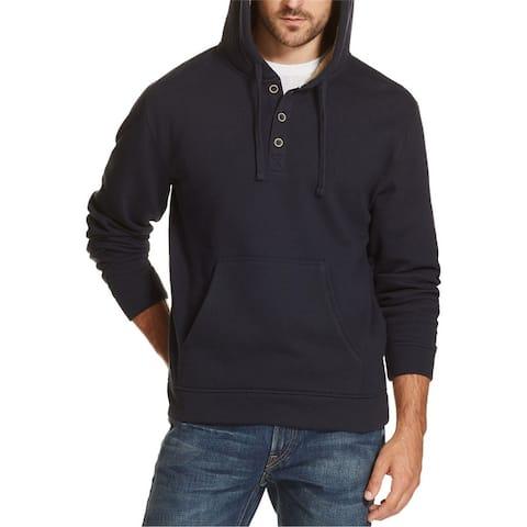 Weatherproof Mens 1/4 Button Hoodie Sweatshirt