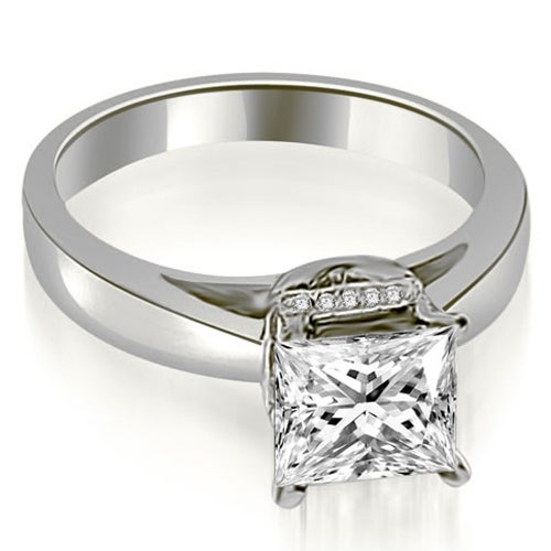 0.80 cttw. 14K White Gold Princess Cut Diamond Engagement Ring