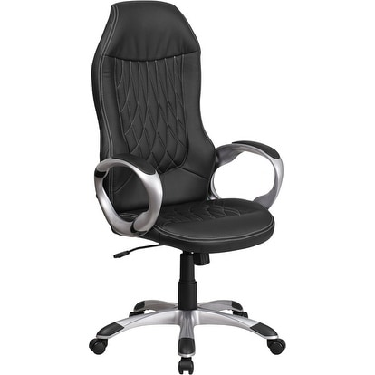 Medieval Selection High Back Black Vinyl Stylish Executive Swivel Chair w/Arms