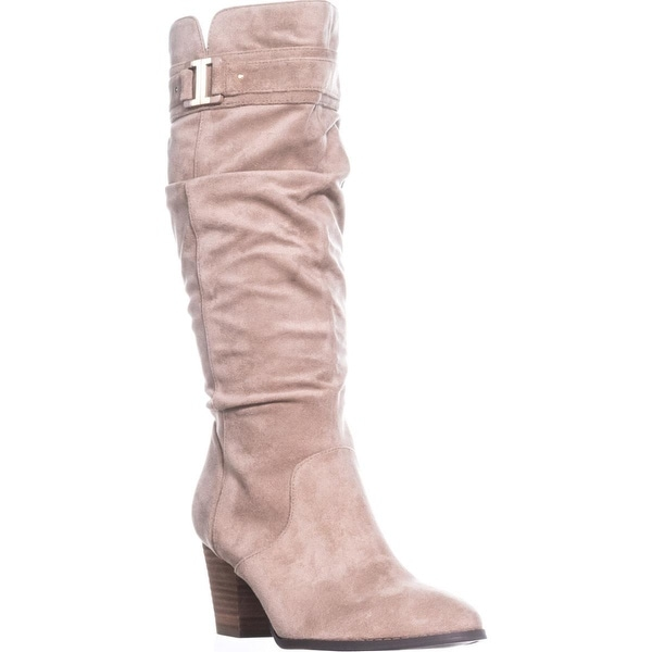 Dr. Scholls Devote Knee-High Boots, Putty Suede - 7.5 us / 37.5 eu