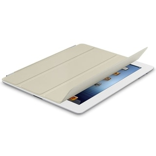 Original Apple iPad 2/3/4 Smart Cover Leather Case - Cream
