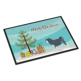 Carolines Treasures BB2953JMAT Lowchen Merry Christmas Tree Indoor or Outdoor Mat 24 x 36