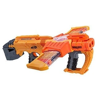 Nerf Doomlands Double Dealer BLASTER, Kids Toy 24 Dart Slam Fire Action NERF GUN