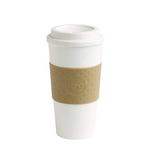 Copco 16 Ounce Acadia Reusable To Go Mug, Tan