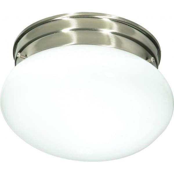 """Nuvo Lighting 76/601 1-Light 7-1/2"""" Wide Flush Mount Bowl Ceiling Fixture - Brushed nickel - n/a"""