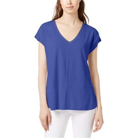 Bar Iii Womens Mixed Media Basic T-Shirt