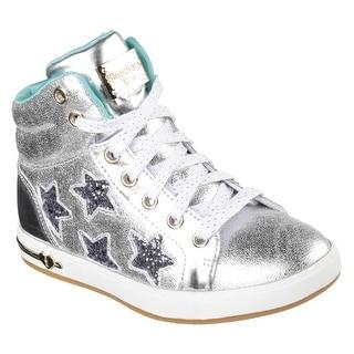 Skechers 84320L SIL Girl's SHOUTOUTS-STARRY SHINE Sneakers