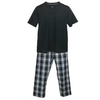 Hanes Men's Tee and Woven Sleep Pant Pajama Set