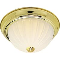 "Nuvo Lighting 76/128 3 Light 15-1/4"" Wide Flush Mount Bowl Ceiling Fixture - Polished brass"