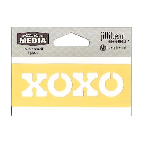 Jb0442 hampton art mix the media stencil 4 xoxo