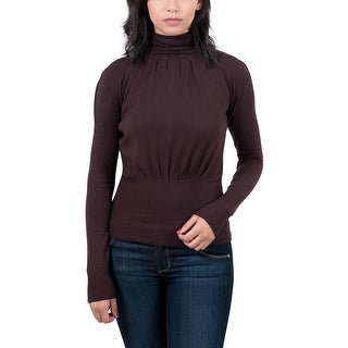 Maglierie Di Perugia Chocolate Brown Turtleneck Womens Sweater
