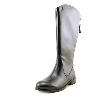 Trotters Logan Too Women Round Toe Leather Mid Calf Boot
