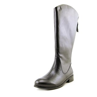 Trotters Logan Too Women W Round Toe Leather Mid Calf Boot