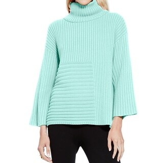 Vince Camuto Womens Pullover Sweater Ribbed Mock Neck