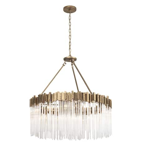 Varaluz Matrix 12-light Havana Gold Pendant