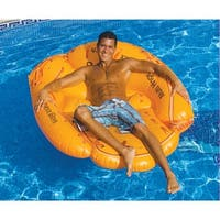 "Giant Inflatable Baseball Mitt - Large Pool Inflatable Chair - 55"" - Orange"