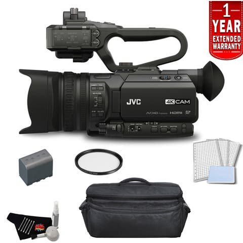 JVC 4KCAM Compact Professional Camcorder Bundle with 1 Year Extended Warranty