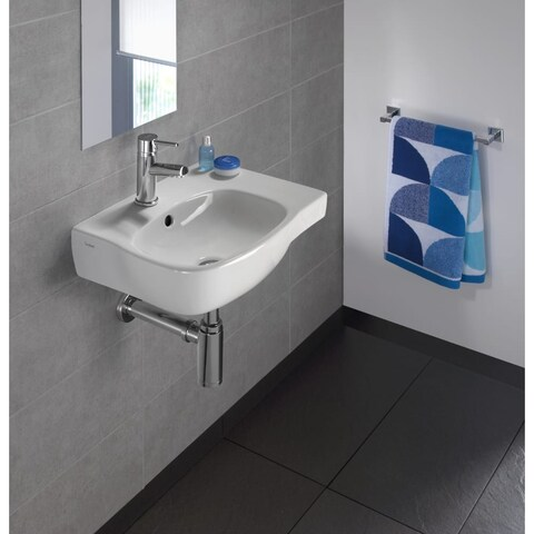 """Bissonnet Moda 45 Moda 17-11/16"""" Vitreous China Wall Mounted Bathroom Sink with - White"""