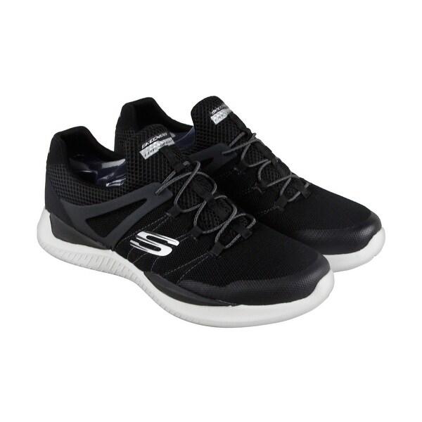 Skechers Matrixx Kingdon Mens Black Mesh Athletic Slip On Training Shoes