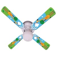 Giraffe Print Blades 42in Ceiling Fan Light Kit - Multi
