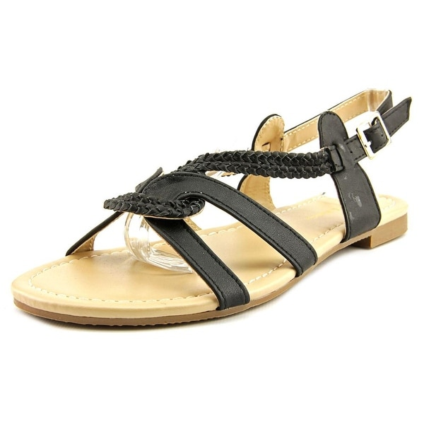 Mark & Maddux Bishop-03 Women  Open-Toe Synthetic Black Slingback Sandal