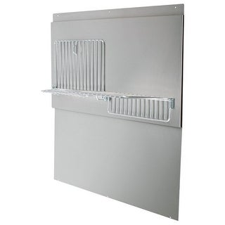 Air King BS48W 48 Inch Wide x 33.44 Inch High Back Splash with Shelves for Air K
