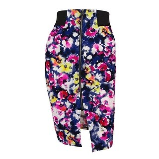 Material Girl Juniors' Floral Print Pencil Skirt - caviar black combo (3 options available)