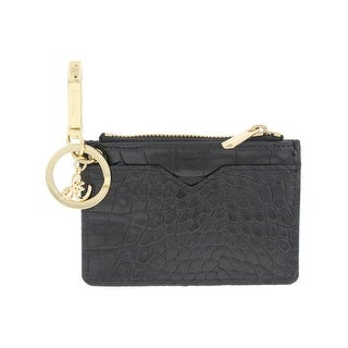 Sam Edelman Womens Coin Purse Keychain Faux Croc Embossed - o/s