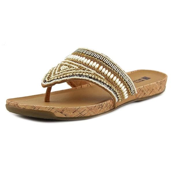 White Mountain Clary Women Open Toe Synthetic Tan Thong Sandal