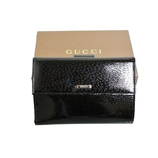 """Gucci Black Patent Leather Bifold Wallet - 6"""" x 4"""""""