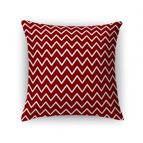ZIG ZAG RED Accent Pillow By Terri Ellis