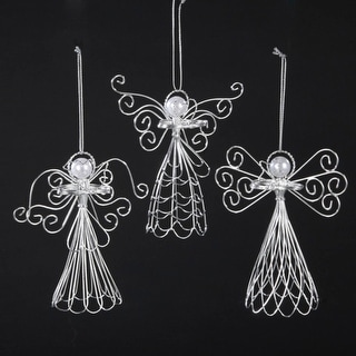 """Link to Club Pack of 12 Seasons of Elegance Wire and Pearl Angel Christmas Ornaments 5"""" Similar Items in Christmas Decorations"""