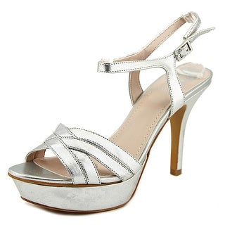 Vince Camuto Paden Women Open Toe Leather Silver Platform Heel