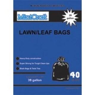Mintcraft 33485 Lawn/Leaf Bag, 39 Gallon, 1.25M, Black