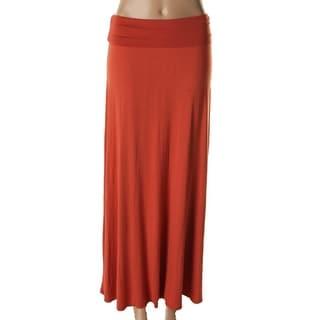 Bobeau Womens Juniors Jersey Ruched Maxi Skirt - XS