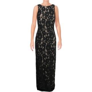 947101db574f Lauren Ralph Lauren Womens Mailee Evening Dress Metallic Sleeveless · Quick  View