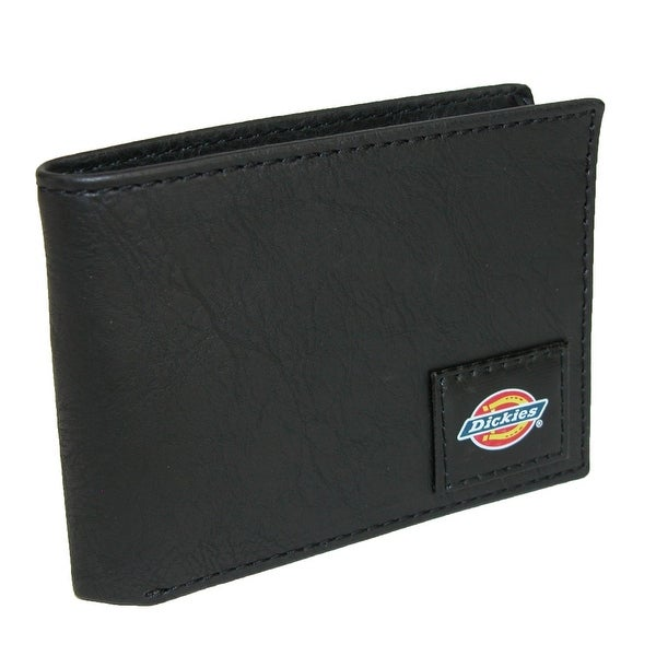Dickies Men's Leather Slim Basic Bifold Wallet - One size