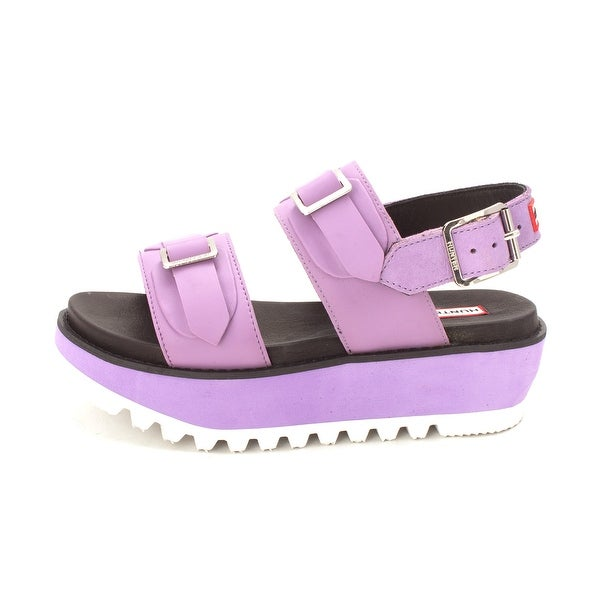 Hunter Womens org dbl buck mid Open Toe Casual Slide Sandals