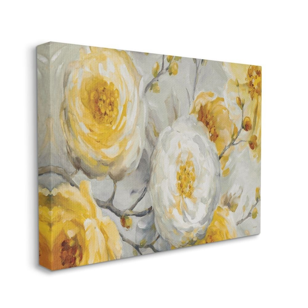 Shop For Stupell Industries Abstract Flower Blossoms Tree Yellow White Painting Canvas Wall Art Get Free Delivery On Everything At Overstock Your Online Art Gallery Store Get 5 In Rewards With Club O 31417526