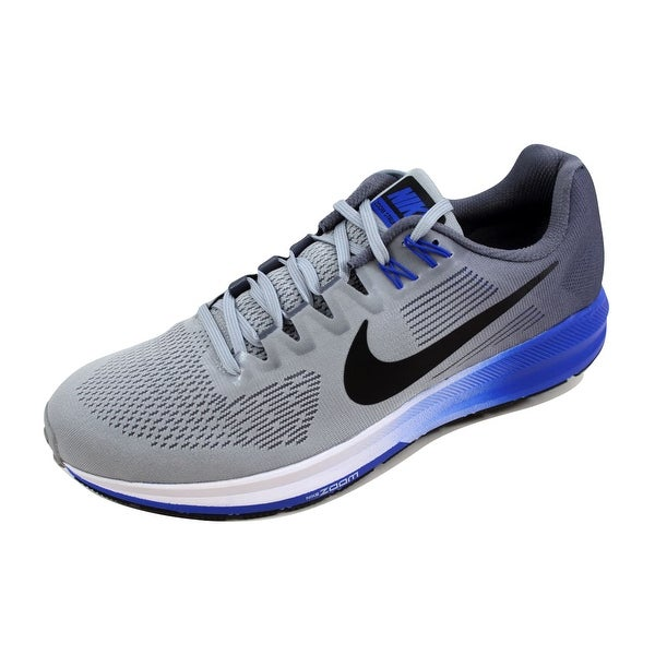 010e4a5a093f ... Men s Athletic Shoes. Nike Men  x27 s Air Zoom Structure 21 Wolf  Grey Black-Light