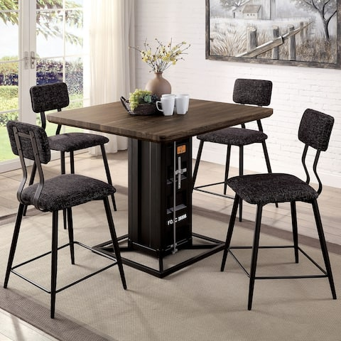 Furniture of America Pren Novelty 5-piece Counter Height Dining Set