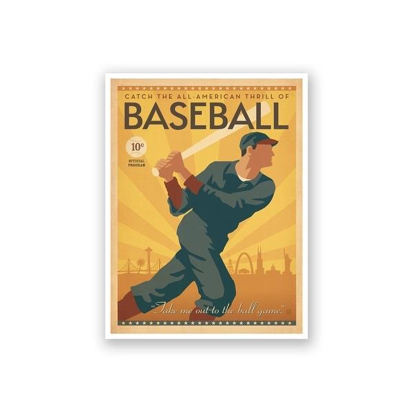 Shop Baseball - Anderson Design Group - 18x14 Matte Poster Print ...