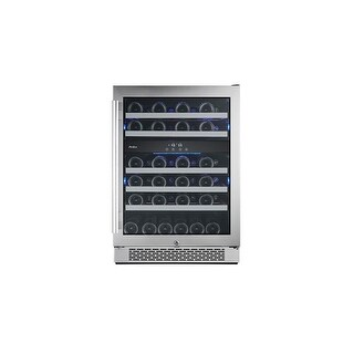 Avallon AWC241DZRH 24 Inch Wide 46 Bottle Capacity Dual Zone Wine Cooler with Right Swing Door