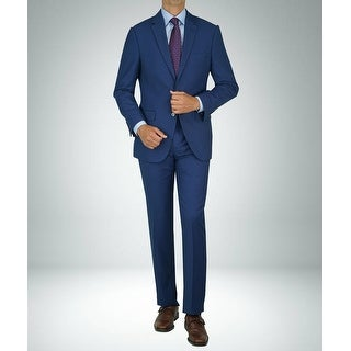Link to Carlo Studio Bird's Eye Medium Blue Modern-Fit Suit Similar Items in Suits & Suit Separates