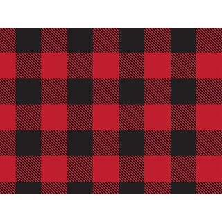 """Pack Of 1, 30"""" X 417' Buffalo Plaid Christmas Stone Gift Wrap Counter Roll Made In Usa"""